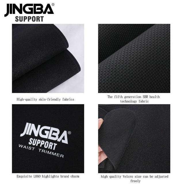 JINGBA SUPPORT Neoprene sport Waist belt Support Body Shaper Waist Trainer Loss Fitness Sweat belt Slimming Strap waist trimmer 4