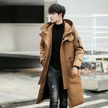 Nice New Style Winter Thick Long Jacket Coat Men Long Coat Men Hooded Parkas Casual Male Solid Warm Overcoat Jackets