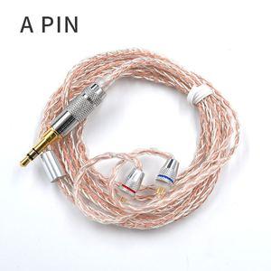 Image 2 - Наушники KZ 8 ядерный Медный Серебряный смешанный обновленный кабель 3,5 мм 2Pin MMCX разъем 0,78 0,75 для KZ CCA TFZ EDX Z1 S2 SA08 ASF ASX