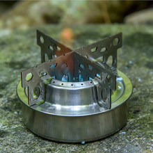 Stainless Steel Alcohol Stove Rack Cross Stand Outdoor Camping Stove Stand Support Rack Burner Camping Equipment(China)