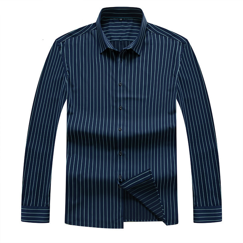 8XL  PLUS SIZE  Men's Casual Shirt Slim Fit Men's Casual Striped Shirt Long Sleeve Formal Dress Shirts Men Male Clothing Camisa