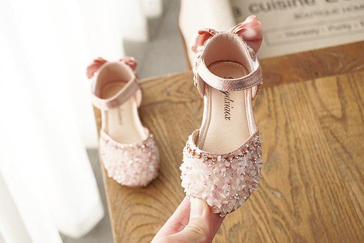 prata crianças verão nina sapatos glitter sapatos