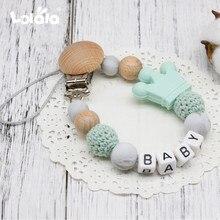 DIY силиконовые персонализированные имя ребенка соска зажимы, забавная соска цепь с мышкой держатель для ребенка, детский душ подарок BPA бесплатно