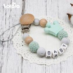 DIY силиконовые персонализированные имя ребенка соска зажимы, забавная соска цепь с мышкой держатель для ребенка, детский душ подарок BPA бесп...