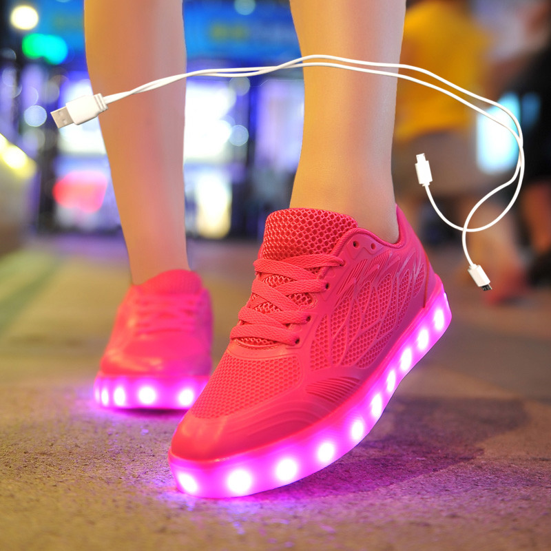 Size 35-40 USB Chargering Led Shoes For Kids & Adults Light Up Sneakers For Boys Girls Men Women Glowing Party Shoes