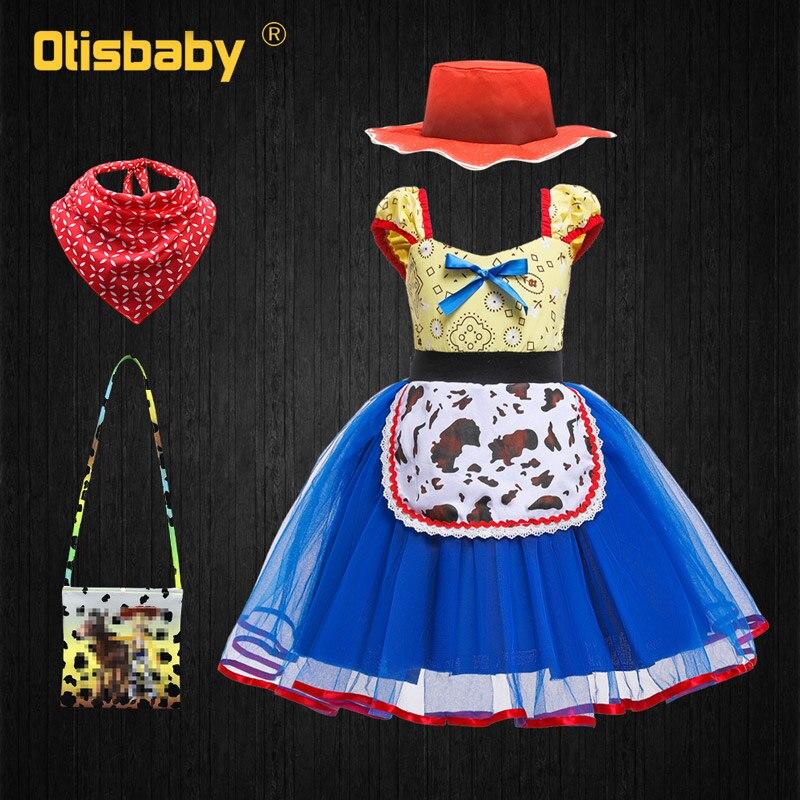 Рождественское платье для младенцев, платье с изображением Джесси, новогодний костюм с изображением игрушек, платье-пачка для девочек 12, 3, 4,...