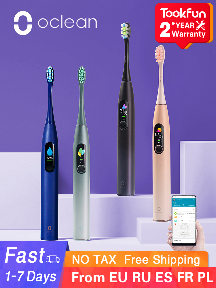 Electric Toothbrush Whitening Teeth-Vibrator Sonic Check-Teeth Smart-App Oclean-X-Pro