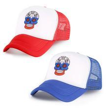 Black Red Visors Fashion Skull Printing Snapbacks Adjustable Unisex Hats Bone Casual Summer Winter Women Men Outdoor Sports Caps