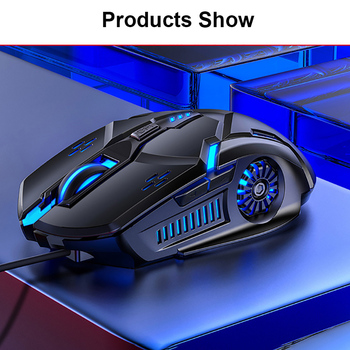 Gaming Mouse Wired Mouse 6D 4-Speed DPI RGB Gaming Mouse For PUBG Computer Laptop 7 Color Breathing Backlight Mouse Gaming Mice 5