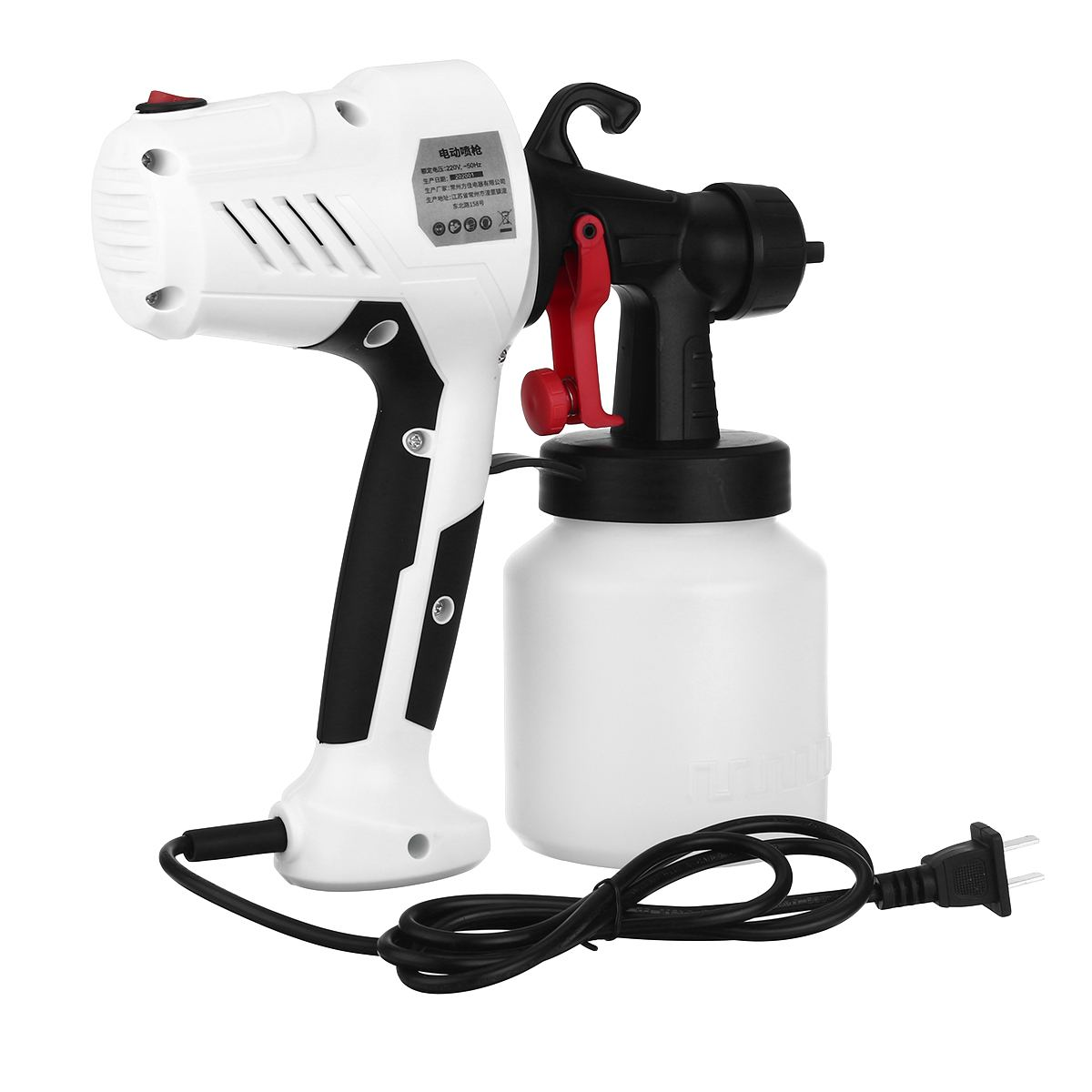 2 5MM Nozzle Spray Guns Paint 650W 220V 800ML High Power Spray Guns Home Electric Paint Sprayer Easy Spraying Clean