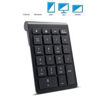 Teclado numérico sem fio do teclado 2.4g numérico de 22 teclas bluetooth mini numérico para a tabuleta/portátil