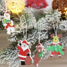 Горячая смешная 12 шт. Рождественская вечеринка Мультфильм Красочная кукла подвеска снеговик дерево кулон Санта Клаус Лось Декор подарок игрушка для ребенка