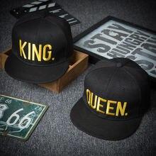 Кепка с вышивкой king queen для мужчин и женщин модная уличная