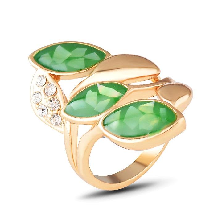 Vintage Gold Big Stone Opal Ring For Women Fashion Bohemian Boho