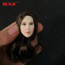 Glf 1/6 коричневые локоны агент женская голова лепить бледная