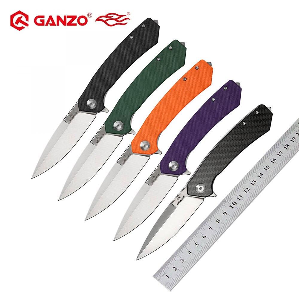 Ganzo Firebird ADIMANTI D2 blade G10 o mango de fibra de carbono cuchillo plegable de supervivencia Herramienta de bolsillo cuchillo táctico herramienta EDC de exterior