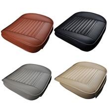 غطاء مقعد السيارة وسادة الخيزران السيارات وسادة مقعد الغطاء الواقي حامي مع منظم جيوب اكسسوارات السيارات