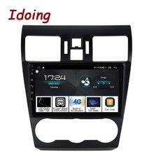 Idoing-Radio Multimedia con GPS para coche, Radio con reproductor, navegador, 9 pulgadas, Android, 4 GB + 64 GB, DSP, Carplay, No 2 Din