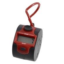 BMBY-круглый красный черный пластик 5 цифр Гольф цифровой Ручной Tally Clicker счетчик