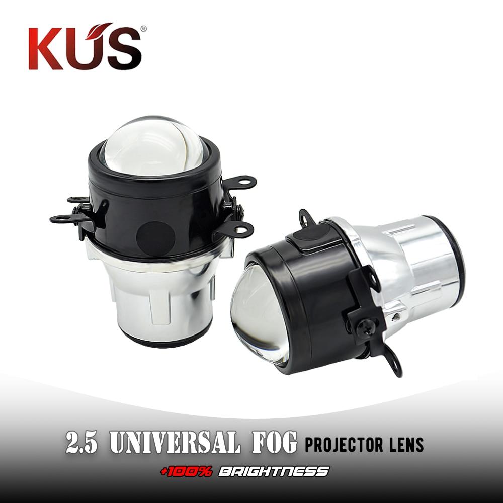 2.5 Inch Fog Light Lens For NISSAN/Jeep Wrangler/Fiida/Ford Full Metal Bi Xenon Projector Lens Auto H11 Fog Light