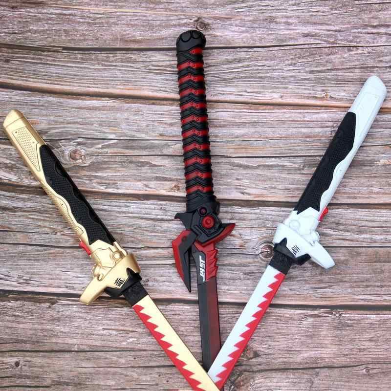 Pu köpük kılıç silah oyuncaklar Anime oyunları Cosplay Genji bıçak Nihontou samuray kılıcı Katana Ninja Espada Pu pervane oyuncak genç
