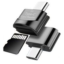 Портативный USB 2,0 type C кард-ридер USB-C TF Micro SD адаптер типа OTG-C кард-ридер для samsung Macbook huawei LeTV