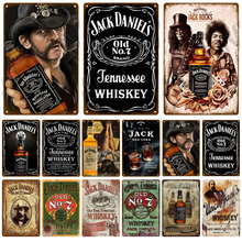 Jack Retro Metal Sign Tin Sign Whisky Belgium Beer Plaque Metal Wall Decor Vintage Decor Poster Plates Man Cave Shabby Chic