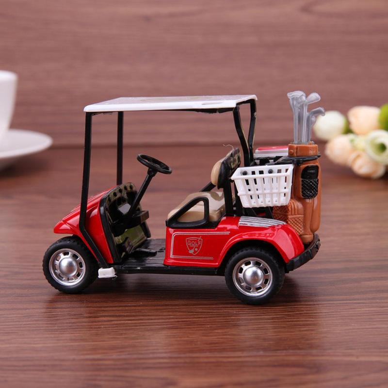 1:36 Scale Simulation Golf Cart Model Toy Alloy Pull Back Model Carpull Vehicle Car Gifts For Kids