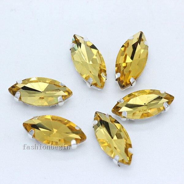 Всех размеров Наветт 24-цветное стекло камень с плоской задней частью, пришить с украшением в виде кристаллов Стразы драгоценные камни бисер с серебряной нитью, бледно-коготь кнопки для одежды аксессуары - Цвет: gold