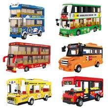 Ônibus cidade reino unido londres blocos de construção veículo escolar amigos casamento carro tráfego tijolos estação dupla meninas presentes técnica brinquedos