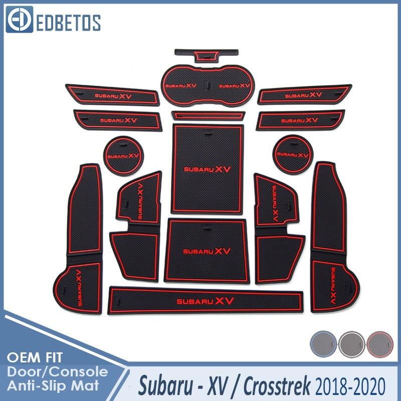 Anti-Slip Mat For Subaru XV 2018 2019 2020 Crosstrek WRX STI Accessories Gate Slot Coaster Anti-Dirty Door Groove Mat Car