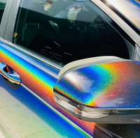 SUNICE 1.52x3m Rainbow Chrome Vinyl Wrap Film Vinyl Wrapping Car Auto Sticker Decals Car Styling Bumper Door Handle Air Bubble