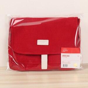 Image 5 - Kpop Bangtan sacs à bandoulière en toile rouge, sac à main pour pièces de monnaie pour maquillage