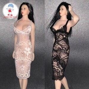 Image 1 - 1/12 TBL PHICEN Action Figure Clothes Lace Dress Black/White Color