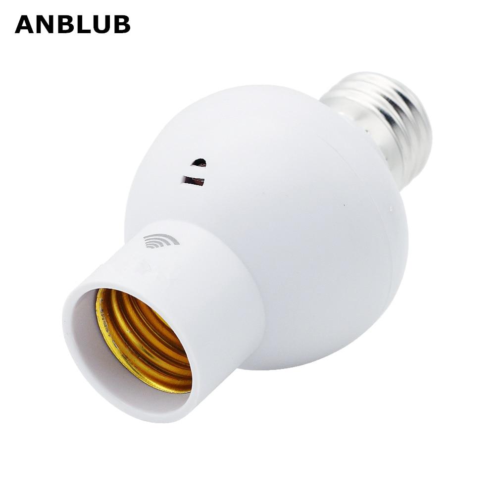 ANBLUB Sound Light Sensor Control Lamp Holder E27 Screw Lamp Bases Cap Socket Switch For Corridor Stairs Indoor Lighting Bulb