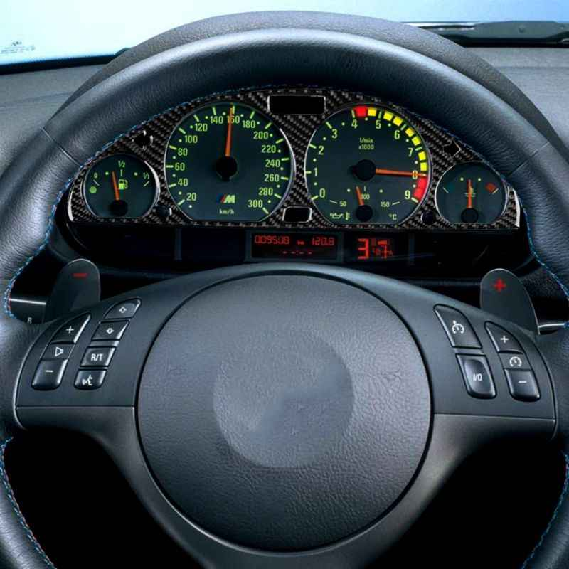 Sợi Carbon Nhạc Cụ Cụm Ốp Viền Màn Hình Cover Phù Hợp Cho Xe BMW E46 M3 1998-2005