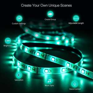 Image 4 - BlitzWolf BW LT11 Светодиодная лента Светодиодная лампа 4000K RGBW Smart App Пульты дистанционного управления Огни Водонепроницаемый Голосовое управление Освещение Работа с Alexa Google Assistance EU / US Plug