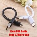Кабель Micro USB Type-C, 15 см, короткий, для быстрой зарядки телефонов Samsung, Xiaomi, Huawei, Android
