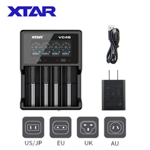 XTAR 18650 Charger VC4S VC2S VC2 VC2S USB Charger Display Charging 3.6V 3.7V Li ion Battery 21700 20700 18650 Battery Charger