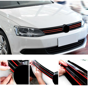 0.8*40cm 3-Colors Car Front Grille Anti-scratch Stickers Decals Accessories For VW Golf 5 7 Polo GTD CC GOLF Golf 6 MK6