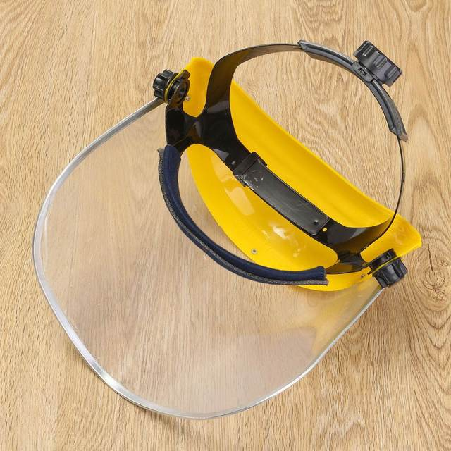 Anti-Saliva Dustproof MaskTransparent PVC Safety Faces Shields Screen Spare Visors Head Face Respiratory tract Protection 2