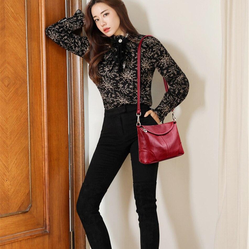 Image 2 - Leather Luxury Women Handbags Designer Messenger Bag Small Ladies Shoulder Hand Crossbody Bags For Women 2020 bolsas de mujerShoulder Bags   -