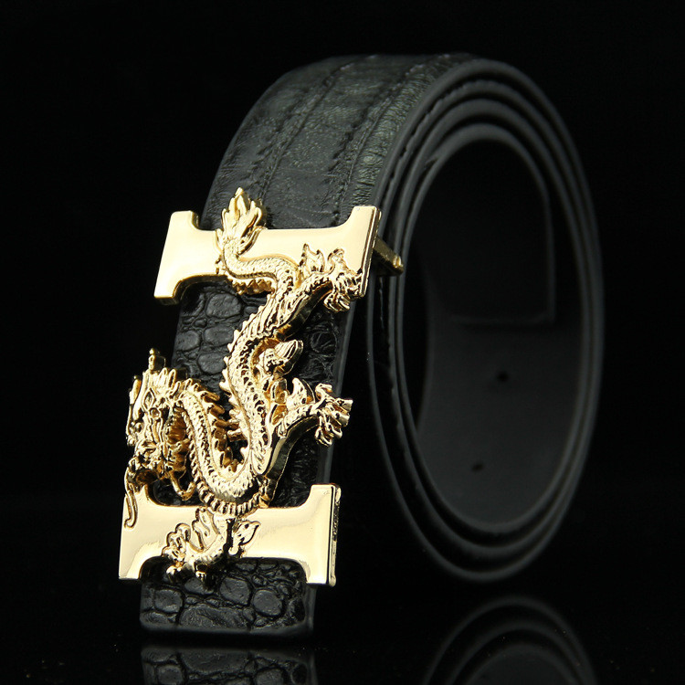 Men's Business Wild Crocodile Fashion Smooth Buckle Belt Men's Casual Faucet Denim Buckle Belt