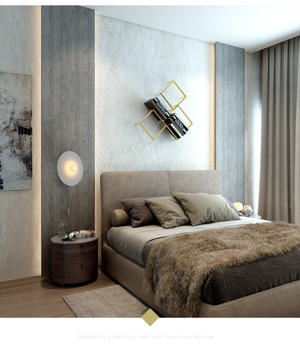 H2aad00a2a3e841f3a9e3510a141df44b8 - Aisilan LED wall Light Nordic light luxury bedroom bedside lamp with switch entrance porch wall lamp