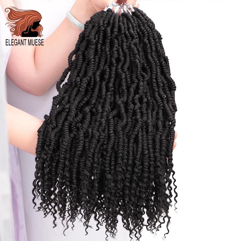 Pre Passion Twists Synthetic Crotchet Hair Extensions Ombre Crochet Braids Fiber Pre Looped Fluffy Twists Braiding Hair Bulk