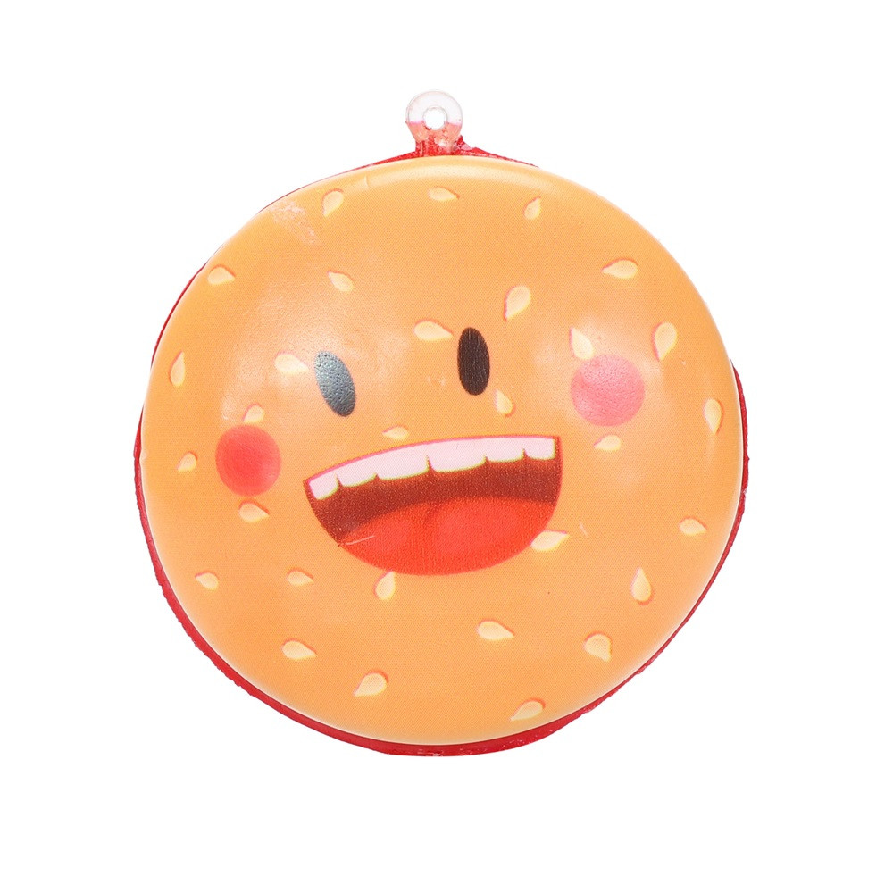 Squishies Kawaii Cartoon Hamburger Slow Rising Cream Scented Keychain Stress Relief Toys Squishy Toys Juguetes De Descompresion