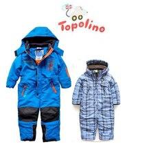 Topolino/детский зимний теплый лыжный костюм; зимний комбинезон; Детский комбинезон; утепленное пальто с хлопковой подкладкой для младенцев; одежда для малышей