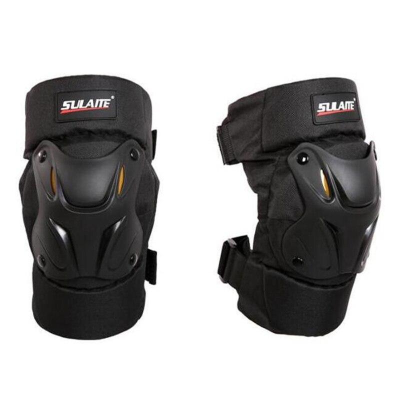 Color Negro 4 Unidades Rodilleras para Moto