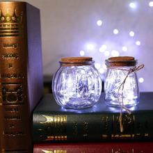 Decorative Wine-Bottle Small Lantern Christmas Light-Shaped Weddin LED WITH Fairy R3M3