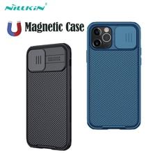 Capa para iphone 12 mini pro para iphone12 capas nillkin caso magnético slide câmera tpu pc capa traseira para iphone 12 pro max